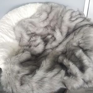 West Elm faux fur brushed tip throw